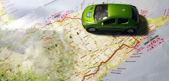 Carte Guadeloupe, Location de voiture le Moule avec Rentacar