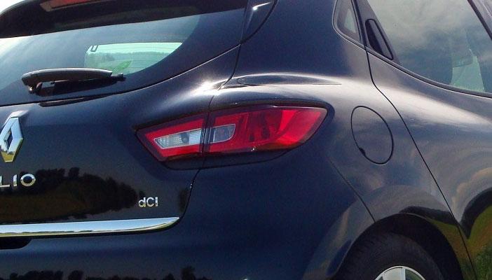Arrière élargi de la Renault Clio 4