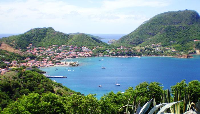 La baie des Saintes en Guadeloupe, une des plus belles baies au monde