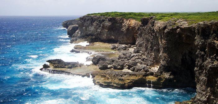 Porte d'enfer à Anse Bertrand, Nord Est des îles de la Guadeloupe